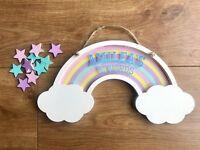 Personalised Wooden Rainbow Reward Chart Drop Box Cute Pretty Stars Pastels
