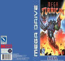 Color Custom Manual MEGA TURRICAN SEGA Mega Drive PAL Version - AAA+++