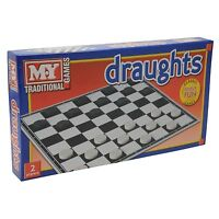 Draught Board Game Traditional Classic  Kid Children Adult Family Fun Play Game