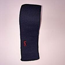 Yves Saint Laurent YSL Navy Knit Neck Tie Slim Skinny Current Style