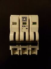 Square D  QO-E 63 Amp Triple Pole Type 3 MCB M6 (Old Style QOE)  * USED *