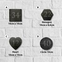 10cm Slate Personalised Door Number House Gate Sign Plaque Plate All Shapes