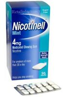 Nicotinell Mint Gum 4mg Pack of 96 gums MULTIPLE PACK available Buy more to save