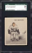 1933-34 World Wide Gum Ice Kings #11 Roy Worters HOF Rookie SGC 96 Mint Pop 1