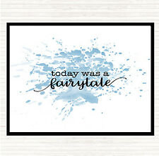 Blue White Today Fairytail Inspirational Quote Mouse Mat Pad