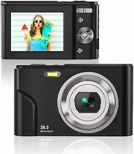 HD 36MP Digital Camera for Photography with 16X Zoom, Digital Video Camera Black