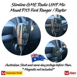 Slimline GME UHF Radio Mic Mount PX3 Ford Ranger Raptor Everest UPDATED 2020