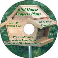 PREMIUM BIRD HOUSE PLANS    PLUS BONUS SHOP PROJECTS  ON ONE    CD