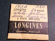 Longines hands, pair white baton 193 B 280, 24m, NEW, for watch repair/parts