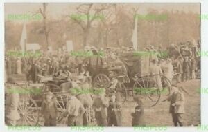 SOCIAL HISTORY POSTCARD POINT TO POINT RACES AULT & HALE REAL PHOTO 1905-10