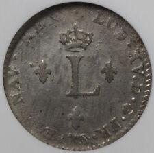 1739 A C-12.1 French Colonies Sou Marque, Paris Mint 2 Sol NGC AU 53