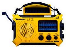 Hand Crank Radio Kaito KA500YEL SW AM FM Solar Powered Radio Camping Yellow