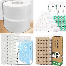 4-Ply Jumbo Toilet Paper Bulk Rolls Soft Bath Tissues Bathroom Household Home