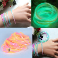 20 Luminious Glow In The Dark Rubber Silicone Wristband Bracelet Wholesale Bands