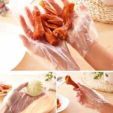 Transparent Disposable Soft Plastic Gloves Food Cleaning One Off Gloves 100Pcs