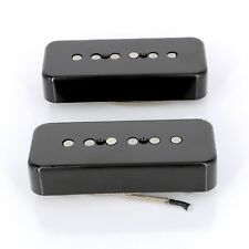 Lindy Fralin P90 Soapbar Pickups ALNICO Pole Pieces BLACK COVERS with -10% Neck