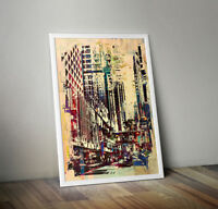 Wall Art Framed, Abstract Cityscape IV ready to hang