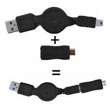 RALLONGE RÉTRACTABLE USB Vers MINI USB & MICRO USB pour Mobiles, PDAs, etc...