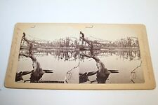 Beautiful Original Old  Antique 1860`s Mary`s Lake C.P.R.R.  Stereoview Photo
