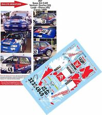 DÉCALS 1/43 réf 497 CITROEN Saxo Kit CAR Vericel Loeb Corse 1999