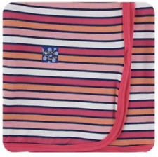 New listing New KicKee Pants Swaddling Blanket in Botany Red Ginger Stripe (2020)