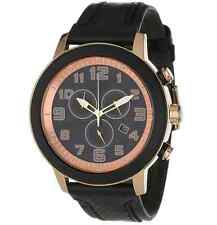 NWT Citizen AT2233-05E Eco-Drive BRT 3.0 Chronograph Black Leather Unisex Watch