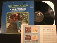 WILLIE NELSON - The Party's Over - 1967 Vinyl 12'' Lp./ VG+/ Country Pop