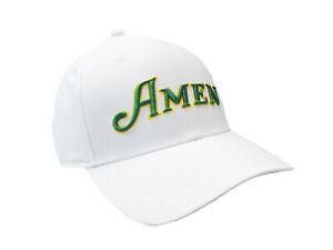 NEW TaylorMade Custom Radar Amen Masters White/Green/Yellow Adjustable Golf Hat