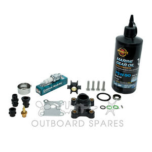 Evinrude Johnson Annual Service Kit with Oils for 9.9, 15hp 2 Stroke Outboard