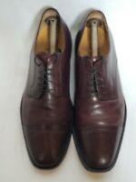 Johnston Murphy 15 0643 Sz 10.5 M Brown Leather Cap Toe Oxford Dress Mens Shoes