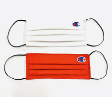 Champion Logo Cotton Fabric Face Mask 2 Pack Handmade Adult OSFM New 100% Cotton
