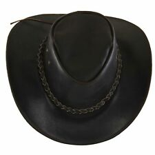 Australian Cowboy Western Cappello di Paglia con più Malleabile Krempe Melaleuka