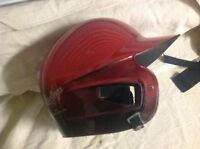 Rawlings AVT Batting Helmet With Chin Strap-red/burgundy