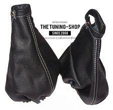 For Alfa Romeo GT 03-10 Gear & Handbrake Boot Leather Black Stitching White
