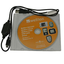 Wellion USB Data Cable + Software CD for Glucose Ketone Cholesterol Meters