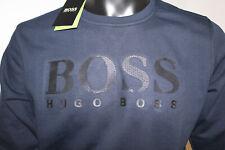 HUGO Boss Sweatshirt SLIM FIT Herren Boss Logo Pullover Navy Blau Gr. S - XL