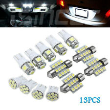 Car White LED Lights Kit for Stock Interior & Dome & License Plate Lamps 13Pcs