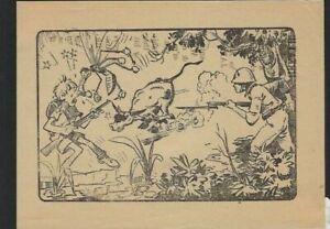 RARE Japanese Produced Aerial Propaganda Leaflet for 1940s Mindoro Philippines