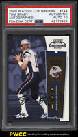 2000 Playoff Contenders Tom Brady ROOKIE RC PSA/DNA 10 AUTO #144 PSA AUTH (PWCC)