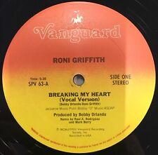 "RONI GRIFFITH Breaking My Heart 12"" Single EX Vinyl 1983 Hi NRG"