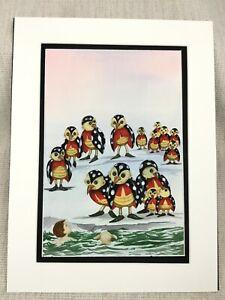 Original Watercolour Painting Ladybirds Bugs Fantasy Art Children's Book Artwork
