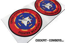 US Navy Fighter Weapons School Top Gun Sticker for HGU flight helmets (set of 2)