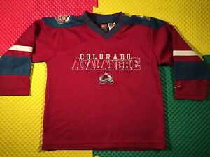 Colorado Avalanche Nike Sewn NHL Hockey Jersey Youth Size S 8-10 Great Condition