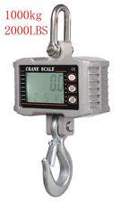 1T 1000kg 2000LBS Aluminum Digital Crane scale heavy Duty Hanging scale 0.5kg