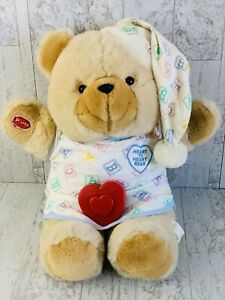 Vintage Chosun Heart to Heart Bear ABC Blocks Singing Musical Plush Twinkle Star