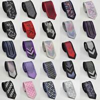 New Mens Slim Skinny Black White Red  Purple Neck Tie Wedding Tie Gift Ties
