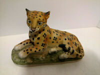 Vintage Lefton Cheetah Figurine KW 6703  Porcelain