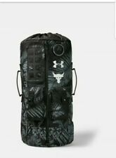 NEW* Under Armour UA x Project Rock 60 Gray Gym Duffle Bag Backpack 1345663-002