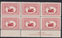 APD494) Australia 1929 1½d WA Centenary Ash imprint block of 6
