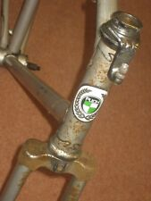"""Vintage Puch Frame Forks 23"""" Road Bike Bicycle Cycling Steel Silver Eroica"""